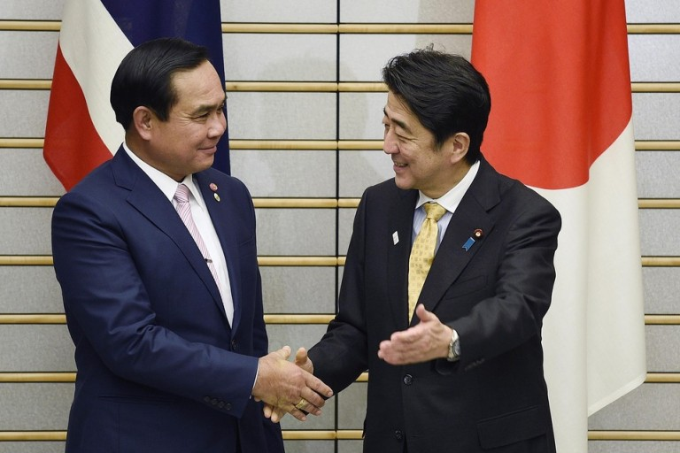 Thai and Japanese Prime Ministers